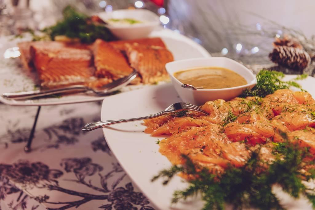 Katajanokan Ksion joulupöydän kalapöytä